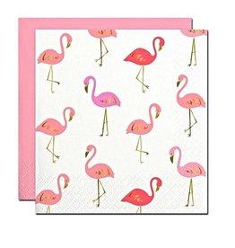 Flamingo Beverage Napkins