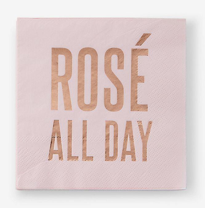 Rose All Day Beverage Napkin