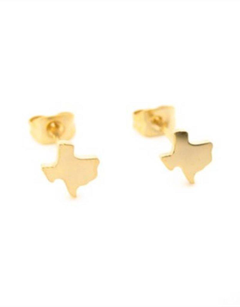 Texas Stud Earrings - Gold