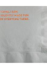 I Came, I Saw Napkin