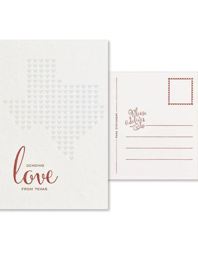 Sending Love From Texas Postcard