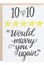 10/10 Would Marry You Again Card