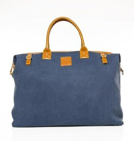 The Weekender Bag - Navy & Tan