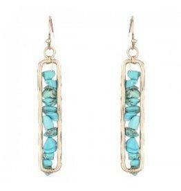 Turqoise Stacked Stone Earrings