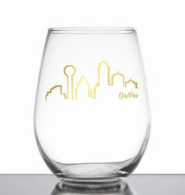 Dallas Skyline Wine Glass