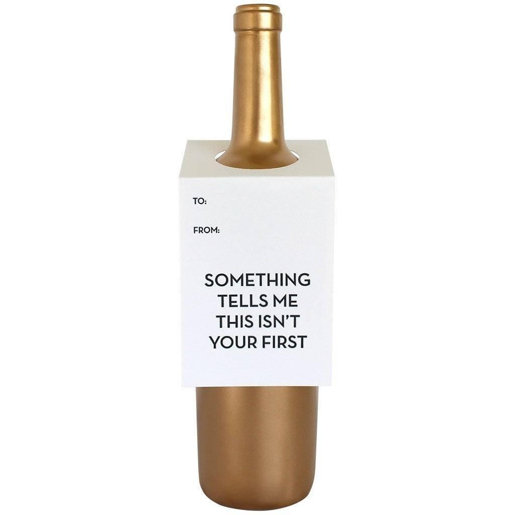 Something Tells Me Wine Tag - Single