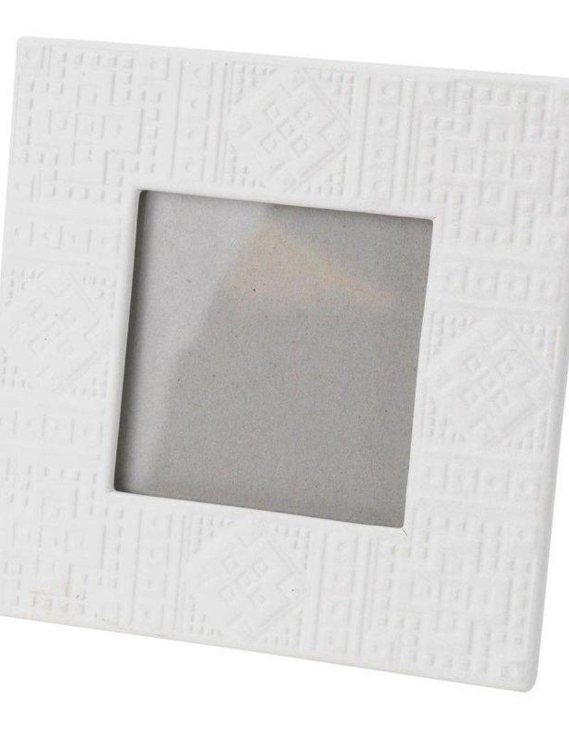 White Square Ceramic Frame