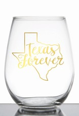 Texas Forever Wine Glass