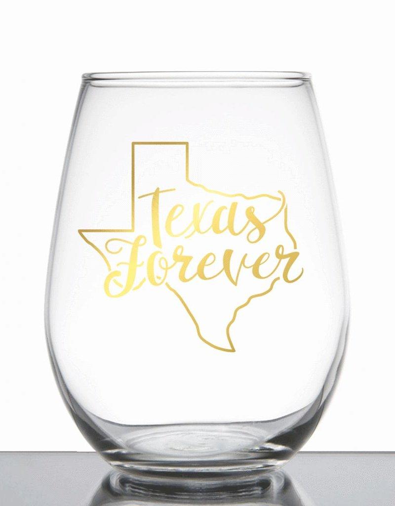 Texas Forever Wine Glass