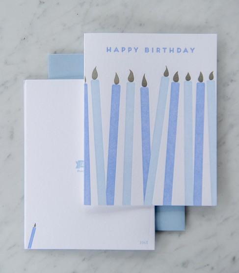 Farmwood Press Blue Birthday Candles Card