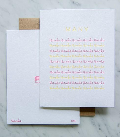 Farmwood Press Many, Many Thanks! Card