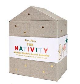 Wood Nativity Calendar