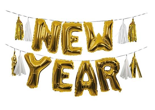 New Year Gold Balloon Kit