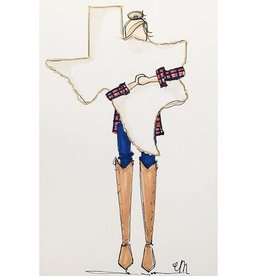 Claire Martin Designs Texas Strong Print - Brunette