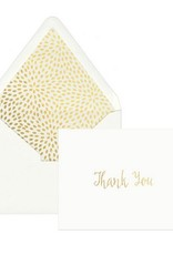 Gold Foil Thank You Notecards