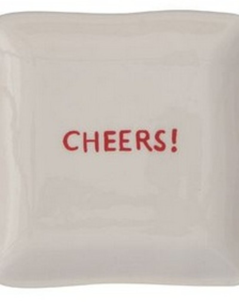 Cheers! Holiday Square Ceramic Plate