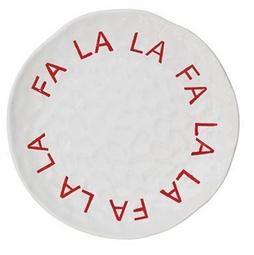 Fa La La Round Stoneware Plate