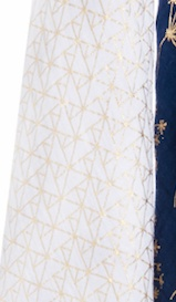 Metallic Gold Deco Swaddle - Gold Lines
