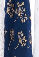 Metallic Gold Deco Swaddle - Navy