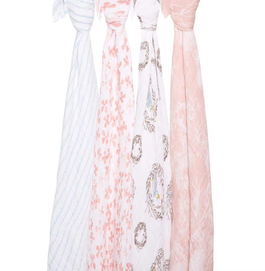 Birdsong Classic Swaddle - Pink Abstract