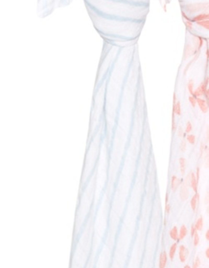 Birdsong Classic Swaddle - Blue Stripes