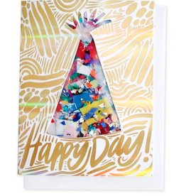 Thimblepress Party Hat Confetti Card