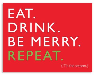 J. Faulkner Eat. Drink. Be Merry. Repeat. Card