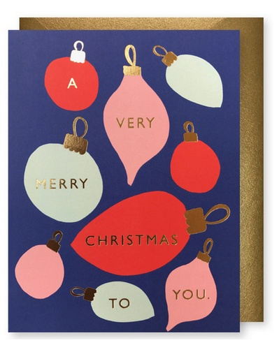 J. Faulkner Retro Ornaments Card - Boxed Set