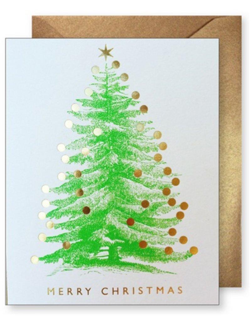 J. Faulkner Gold Christmas Tree Card - Boxed Set