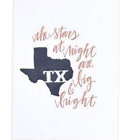 OneCanoeTwo Texas Letterpress Print - 5x7