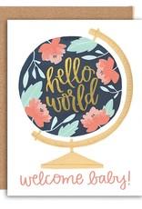 OneCanoeTwo Welcome Baby Globe Card