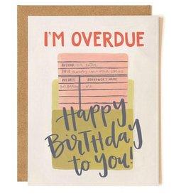 OneCanoeTwo Overdue Birthday Card
