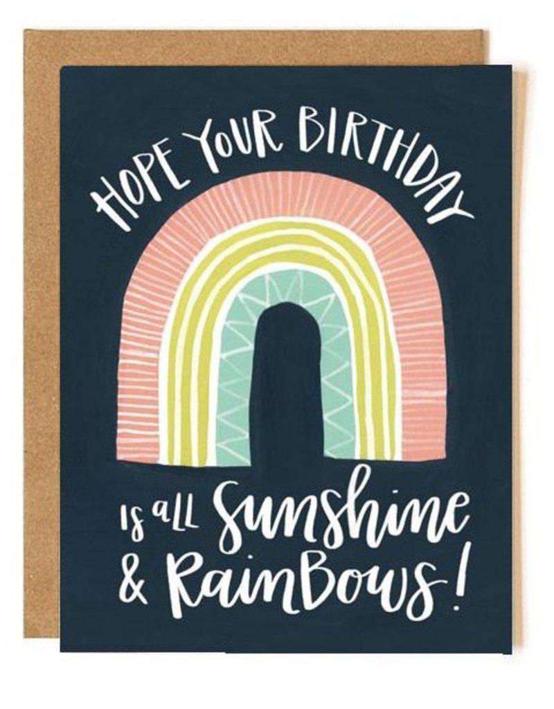 OneCanoeTwo Sunshine Rainbow Birthday Card