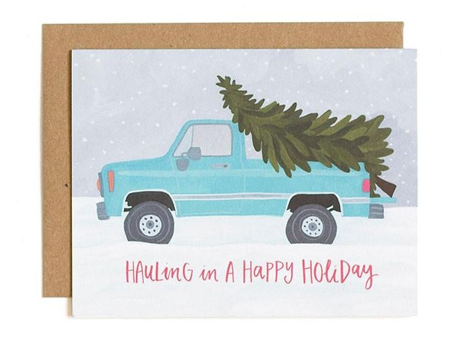 OneCanoeTwo Hauling Truck Holiday Card