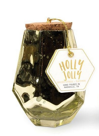 Holly Jolly Mercury Glass Prism Candle - 7 oz.