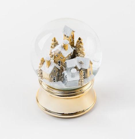 Gold Village Snowglobe