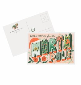 Greetings from the North Pole Postcard - Pack of 10