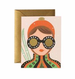 Ski Girl Card