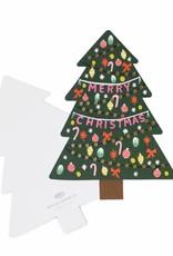 Die Cut Christmas Tree Card