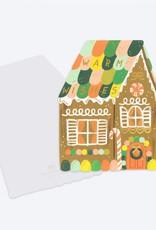 Die Cut Gingerbread House Card