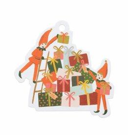 Elves Die-Cut Gift Tags - Pack of 8