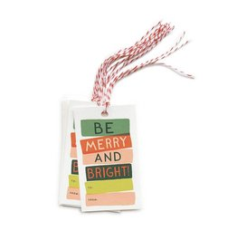 Be Merry & Bright Gift Tag - Pack of 10