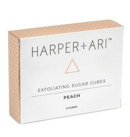 Harper + Ari Exfoliating Sugar Cubes Gift Box - Peach