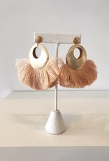 Blush Fan Dangle Earring