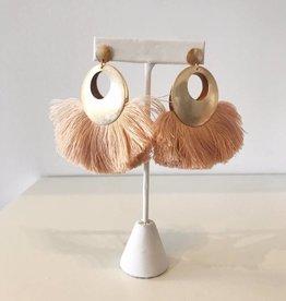 Blush Fan Dangle Earring