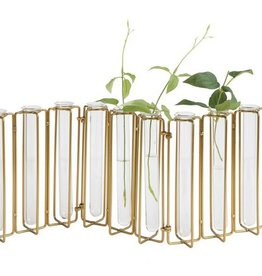 Gold + Glass Jointed Vase