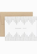 Evermore Paper Co. Boho Thank You Card