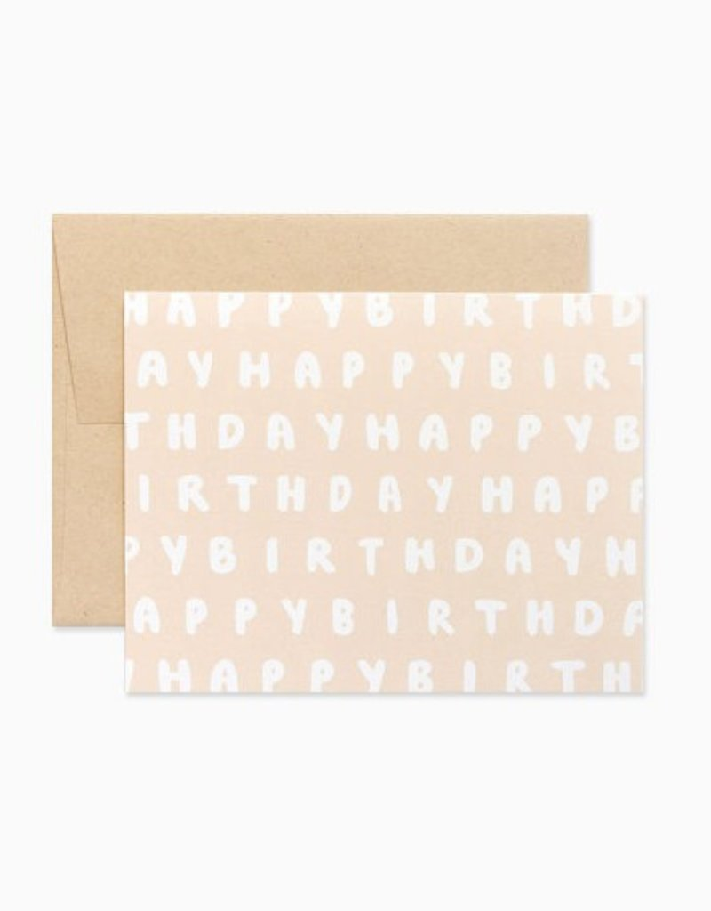 Evermore Paper Co. Blush Brush Lettering Birthday Card