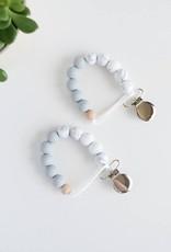 Grace + Parker Colorblock Pacifier Teething Clip - Light Grey
