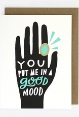 Worthwhile Paper Good Mood Mood Ring Card